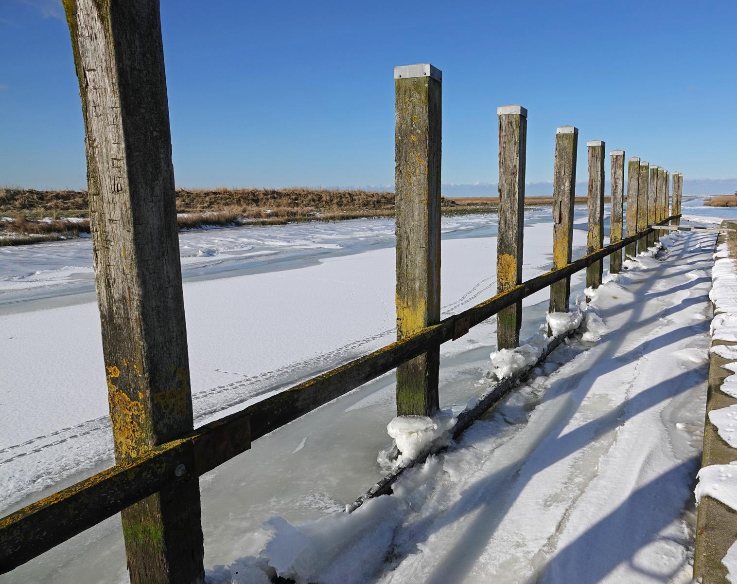 Noordpolderzijl in de winter